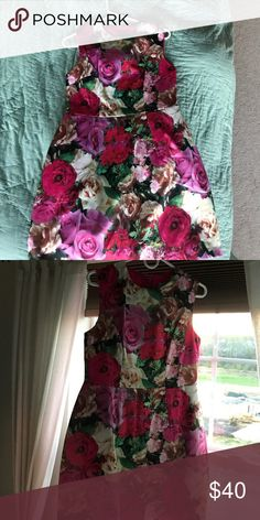 ASOS Floral Structured Tulip Dress If Blair Waldorf shopped at ASOS this is what she would buy. Size 8, never been worn. Tulip structured dress. ASOS Dresses