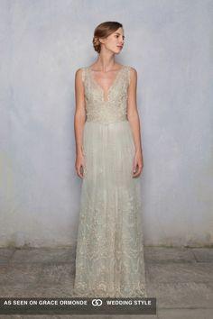 luisa beccaria sleeveless lace wedding dress