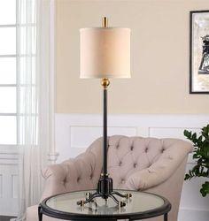Uttermost Halvern Metal Buffet Lamp