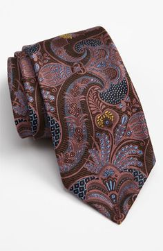 Robert Talbott 'Sevenfold' Silk Tie (Limited Edition) | Nordstrom Suit Fashion, Mens Fashion, Tie And Pocket Square, Pocket Squares, Look Formal, Designer Ties, Mens Gear, Silk Ties, Bow Ties