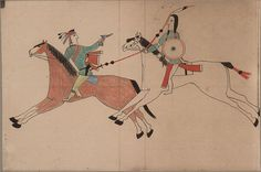 Cheyenne and Pawnee [Osage] Fight : : Ledger painting : Fine Giclee Print Native American Horses, Native American Regalia, Cheyenne Warrior, Native Drawings, Dog Soldiers, Art Prints For Sale, Native Art, Affordable Art, Art Day