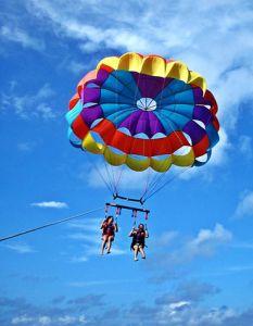 Boracay Island Activities Parasailing -- http://www.islandsofthephilippines.com/boracay-island/