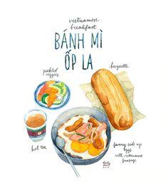 bánh mì ốp la: vietnamese breakfast!
