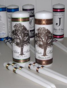 Tree of Life Unity Candle Set your choice of by wreathartist, $23.99