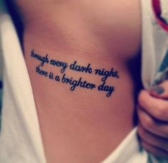 trough every dark night, there is a brighter day