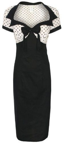 Lindy Bop 'Laney' Chic Vintage 50's Style Black Bengaline Pencil Wiggle Dress:Amazon:Clothing