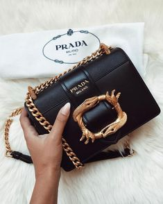 Shop Prada bags for women at Farfetch for classic styles including the nylon backpacks, Galleria tote and Cahier cross-body bags. Fall Handbags, Prada Handbags, Prada Bag, Luxury Handbags, Purses And Handbags, Designer Handbags, Cheap Handbags, Designer Bags, Louis Vuitton Nails