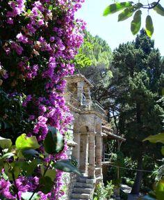 Moorish Gazebo in Taormina Garden, Italy
