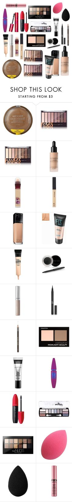 """""""My Makeup Collection"""" by an-internet-girl ❤ liked on Polyvore featuring beauty, Wet n Wild, Sephora Collection, Maybelline, Mary Kay, COVERGIRL, Lipsy, Smashbox, Too Faced Cosmetics and Revlon"""