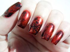 Hydra Nails inspired by the backing card from the Hydra pin in the Villains 2 Loot Crate.