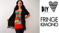 DIY Clothing - Kimono out of a Scarf! - YouTube