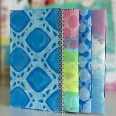 Gelli Bound Class Sample - I had a truly inspiring teaching experience this month with another Gelli Print offering at My Heart's Fancy.  This class was called Gelli Bound and my students learned new ways to create Gelli Plate monoprints, which we then used to make three little journals and a box to hold them in.