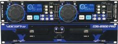 """VocoPro CDG8900 PRO Dual Tray CD Player by VocoPro. $309.99. The CDG-8900 PRO has all the pro features you need, whether you're playing music or providing vocals. Plus it has an external controller for easier operation. For great-sounding and reliable gear, VocoPro is the professional's choice.Features Independent dual CD/CD+G players  """"Continue"""" feature automatically skips to the next disc tray when one is finished  External controller included  Loop play through i..."""