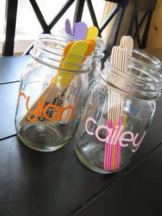 More chores! Assign kids chore jars. I love the idea of making different jars for each kid. I so need to do this.