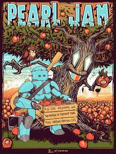 Pearl Jam poster by N8 Van Dyke
