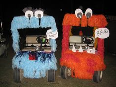 165 best images about Golf Carts Halloween Camping, Holidays Halloween, Halloween Decorations, Halloween Costumes, Camping Decorations, Couple Halloween, Halloween Party, Diy Bar Cart, Gold Bar Cart