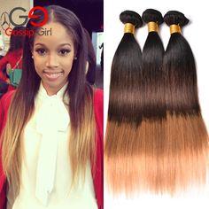 7a ombre brazylijski włosy 1b/4/27 prosto ludzki włos brazylijski dziewiczy włosy 3 wiązki ombre dziewiczy włosy gossip girl produkty