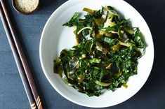 Making Seaweed Salad at Home Is Easier Than You Think - just dried seaweed, kale, cucumber and fresh dressing made with grated ginger and sesame oil. Seaweed Salad Recipes, Cucumber Recipes, Sea Weed Recipes, Sea Vegetables, Veggies, Cooking Recipes, Healthy Recipes, Dishes Recipes, Bon Appetit
