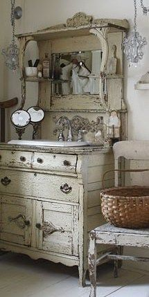 Lover the hutch, but the top would make a great mirror idea