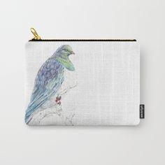 Mr Kereru, New Zealand native wood pigeon Carry-All Pouch