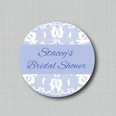 Custom Bridal Shower Favor Stickers by StickEmUpLabels on Etsy, $5.50