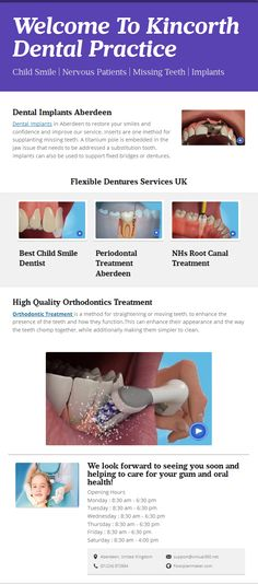 Kincorth Dental Practice have best and experienced dentists caring about Patients ,Our Team suggesting best techniques for how to care your  Family smile.
