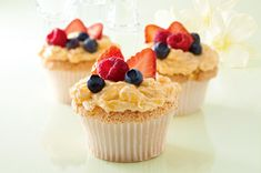 These Angel Lush Cupcakes look so easy to make...and I bet they taste amazing.