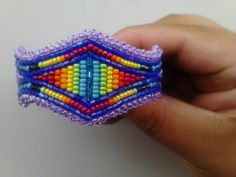 Native American Beaded Bracelet by Sofiaspassion on Etsy, $20.00