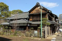 Old house in the  Edo-Tokyo Open-air Architectural Museum in Koganei Park