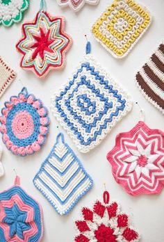 Collection of Handmade Crocheted potholders  by FineLitttleDay