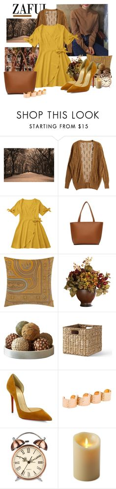 """Bring the sun with you"" by moni4e ❤ liked on Polyvore featuring Art for Life, Etro, Nearly Natural, Lands' End, Christian Louboutin, Maison Margiela and Luminara"