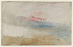 Joseph Mallord William Turner, 'Red Sky over a Beach' ?c.1840-5