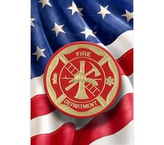 Fire Department Garden Flag by Red Carpet Studios on today! Firefighter Home Decor, Firefighter Gifts, Burlap Projects, Outdoor Gifts, Geometric Heart, Fire Department, Fire Dept, House Flags, Blue Backgrounds
