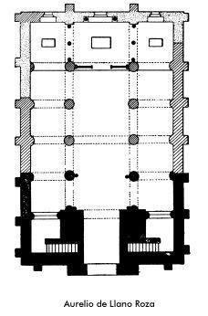 15-San Miguel de Lillo (planta reconstruida)   E-Peristilo