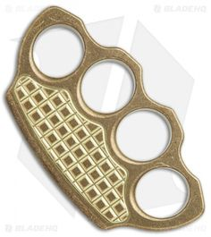 Microtech Marfione Hand Tank Four-Finger Knuckle Paperweight (Stonewash Brass) - Blade HQ Finger Knuckles, Brass Knuckles, Desk Accessories, Paper Weights, Hands, Pattern, Blade, Weapons, Collection