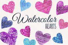 Check out Valentines day set  watercolor heart by Yuliya Shora on Creative Market