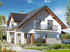 Home Fashion, My House, House Plans, Porch, Villa, House Design, Cabin, Flat, House Styles