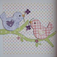 Love these birds Baby Applique, Wool Applique, Applique Quilts, Applique Templates, Applique Patterns, Quilt Patterns, Quilt Baby, Mini Quilts, Vogel Quilt