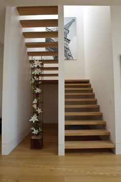 Architectural, interior and landscape design firm inc. Interior Staircase, Staircase Railings, Modern Staircase, Staircase Design, Stairs Architecture, Banisters, Open Stairs, Floating Stairs, U Shaped Stairs