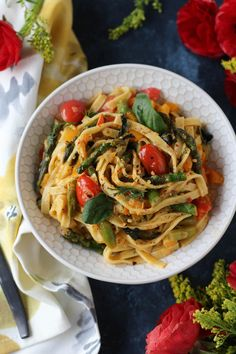 PaleOMG Spring Vegetable Basil Pasta