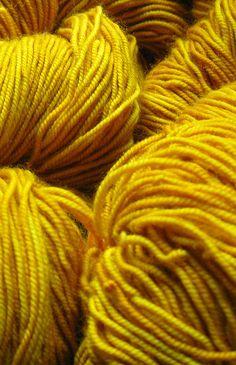yellow yarn.