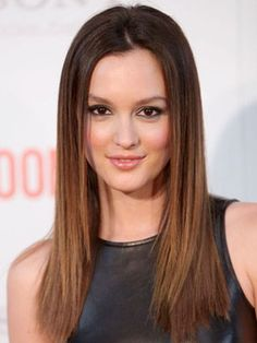 Famous Young Actress Leighton Meester From Old Gossip Girls CW Tv Show with her Brown-Walnut-Dyed-Hairdo.