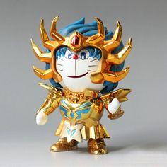 Doraemon COS Saint Seiya Cancer Dora Cat Cosplay Edition 10cm Toy PVC Action Figures Doll Toys #Affiliate