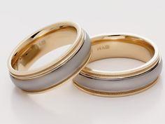 Anillos de #matrimonio de oro blanco y amarillo Wedding Bands, Our Wedding, Dream Wedding, Wedding Ring, Jewel Box, Wedding Styles, Bling, Engagement Rings, Diamond