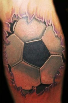Whoa... cool tattoo, but would you be obsessed with the sport enough to get a tat like this?