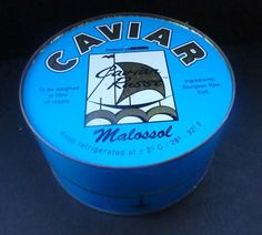 Huge Vintage Russian Caviar Tin. Great by IconicEdinburgh on Etsy