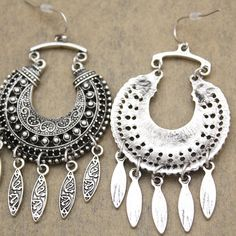 RechicGu Ethnic Retro Bali Jhumka Jhumki Crescent Drops Mexican Gypsy Dangle Earrings * Learn more by visiting the image link. (This is an affiliate link) #JewelryForSale