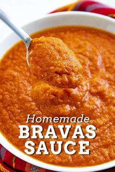 Patatas Bravas Sauce, Tapas Recipes, Spanish Recipes, Mexican Food Recipes, Vegan Recipes, Cooking Recipes, Spicy Tomato Sauce, Vegane Rezepte