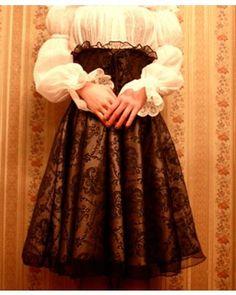 Gothic Lolita Skirt Prints Lace #lolitadress   #skirt  #lace