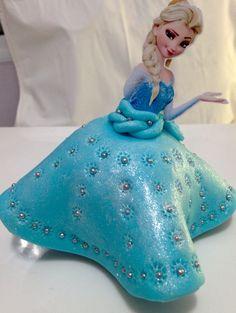 Maçã decorada - Elsa Frozen